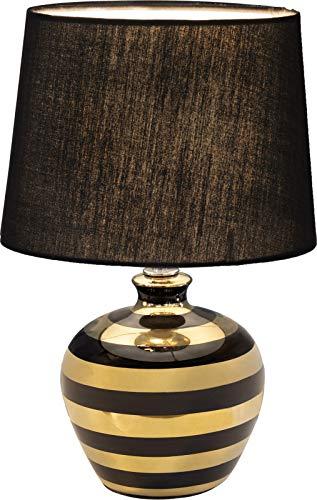 Tischleuchte Nino Celia 52200145 Beistelllampe Streifnmuster Gold