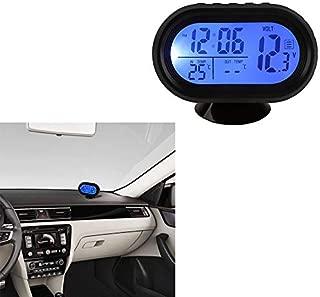 Anewu Termometro per Moto Display Digitale Blu del contatore del termometro della Moto Adattatore per misuratore di Temperatura dellAcqua per Tubo da 18 mm