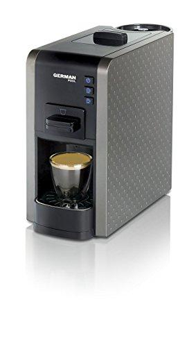 German Pool CMC-111GY Einfache Reinigung mit großer Auswahl an Getränken Espresso/Cappuccino Multi-Kapsel Kaffeemaschine Grau