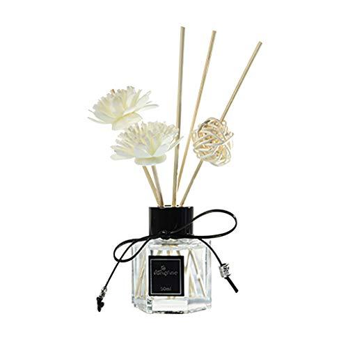 Difusores de Aceite de caa con Varillas Naturales, Botella de Vidrio y Aceite perfumado de 50 ml, decoracin del hogar, para el da de Pascua (G)