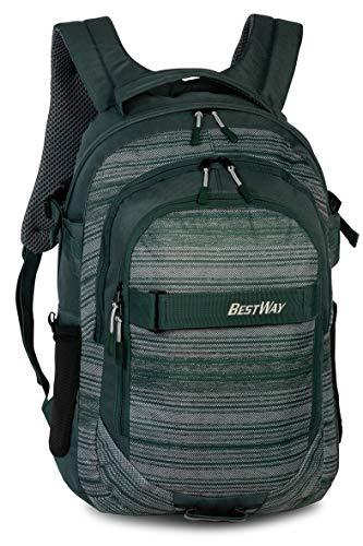 Bestway Rucksack Evolution Air Schulrucksack Laptop-Fach Sportrucksack Freizeitrucksack 26 Liter Olivgrün