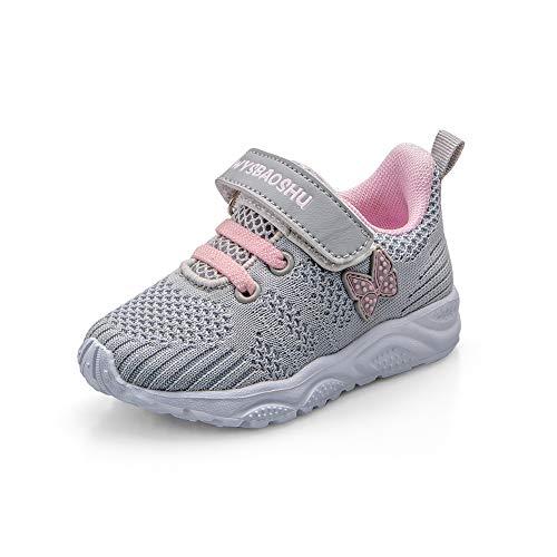 Zapatos Bebe Niña Deportivas Niña Velcro Chicas Tenis Bambas Zapatillas de Correr...