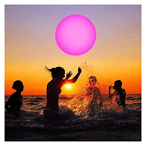 DIMOA LED-Strandbällchen Wasserkugel, 13 Farbwechsel-LED schwimmend aufblasbar mit Fernbedienung, große Nacht schwimmend für Schwimmbad, Strandparty, Garten Schwimmbad Spielzeug, Glow Ball