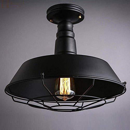 G-D plafondlamp retro plafondlamp design ideeën industriële stijl vintage plafond decoratieve kroonluchter ijzer schaduw zwart bar zolder keuken E27