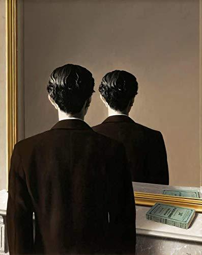 A Reprodução Proibida de René Magritte - 75x93 - Tela Canvas Para Quadro