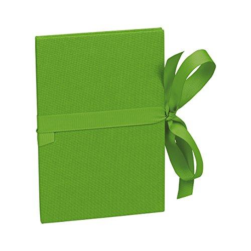 Semikolon (353214) Leporello Classico lime (hell-grün) - Für 14 Bildern im Format 10 x 15 cm - Ziehharmonika-Fotobuch - Format: 12,2 x 17,7 cm
