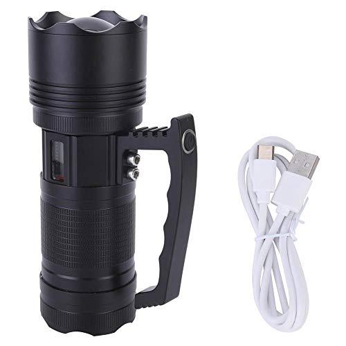 CjnJX-Vases Lámpara de Mano LED, Linterna de Mano, Linterna de Cambio de Cuatro Colores para Pesca Nocturna, Senderismo, batería incorporada, Carga USB,...