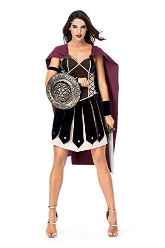 Frauen Spartanischer weiblicher Krieger Antiken römischen Arena Gladiator Halloween Cosplay Kostüm