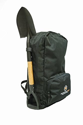 Der Rucksack für Metalldetektor mit einem Schaufel zu speichern