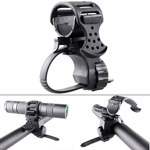 Universal Fahrradlicht Halterung für Taschenlampen, Taschenlampenhalter Fahrrad, Größen-Verstellbar, einfache Befestigung an jedem Fahrradlenker, Taschenlampenhalterung Fahrrad Lenker, Fahrradzubehör