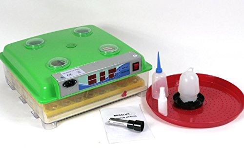 HeuSa Tech Brutmaschine BK55LUX Low Noise VOLLAUTOMATISCH + Zubehör, 55 Eier, Brutautomat, Inkubator