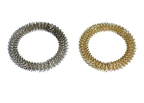 Juego de anillos para masaje de manos (color de oro y de plata) - Leonidov