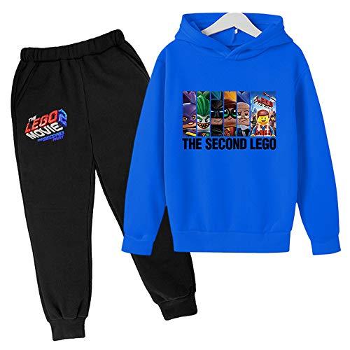 Proxiceen Lego Phantom Ninja - Conjunto de ropa de deporte para niños para otoño/invierno Plus terciopelo para niños y niñas, juego de dos piezas A6. 100 cm