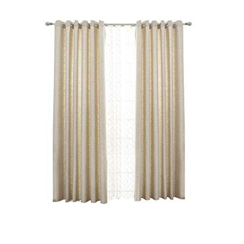 RR & LL gordijnen eenvoudige moderne stijl eenkleurig dikke katoenen gordijnen slaapkamer woonkamer balkon aansteker gordijn klaar (grootte: breedte 300hoogte 270c) Width 200*height 270cm 4