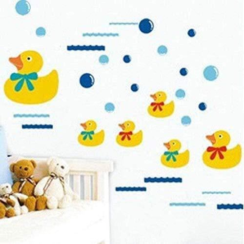 Muursticker,mode, Muurschilderingen Kinderkamer mode Cartoon Stickers Eendjes Slaapkamer Keuken Badkamer Toilet Wastafel Lijn mode