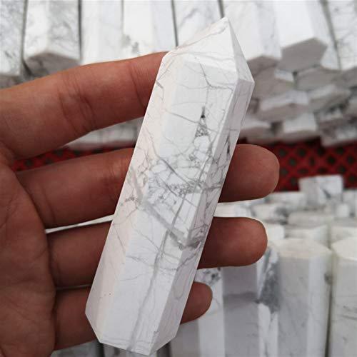 YANGB Piedra de Masaje Piedras Naturales Minnerales Cristales Wicca Rose Cuarzo Amatista Labradorite Decoración Meditación Chakra Curación de la Columna de Cristal