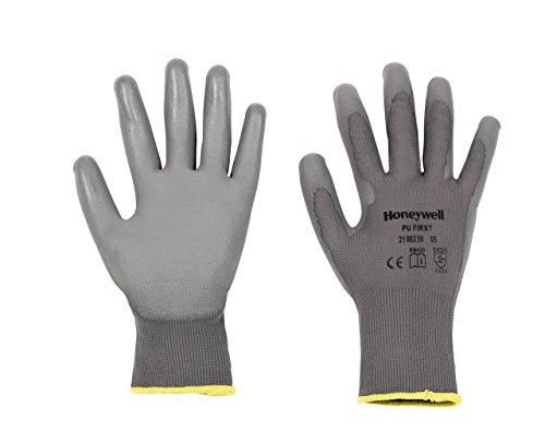 Honeywell 2100250-08 Gants de Manutention Générale PU 1st Grey, Manipulation Fine en Milieu Sec, EN 388 4131 - Taille 8 (Pack de 10 paires)