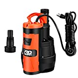 Submersible Pump, 1HP 3500GPH Electric Water Removal Pump with Build-in Float Switch and 16Ft Power Cord for Swimming Pool, Garden Pond and Flood Drain