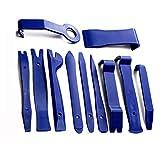 IronHeel 11 PCS Kits de eliminación de automóviles Herramienta de reparación de Panel de Radio Interior automático Juego de instalación de extracción de Recorte de Ventana de Puerta Duradera - Azul