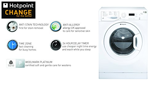 Hotpoint Extra WMXTF942P 9 Kilogram Washing Machine with 1400 rpm White A Plus Plus Rated
