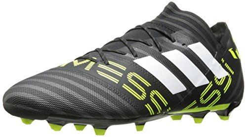 adidas Men's Nemeziz Messi 17.2 FG Soccer Shoe, Black/White/Solar Yellow, (9.5 M US)