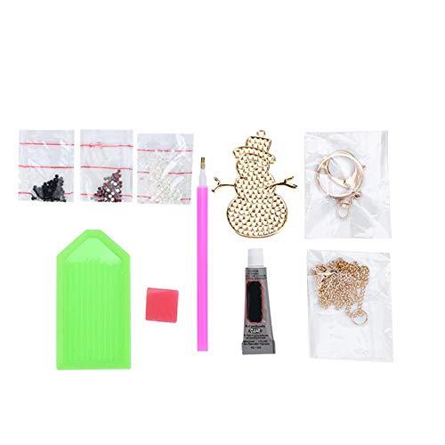 Kit de fabricación de joyas, muñeco de nieve con forma de bricolaje, kit de fabricación de joyas para niñas, collar, colgante y pulsera, juego de manualidades, fiesta