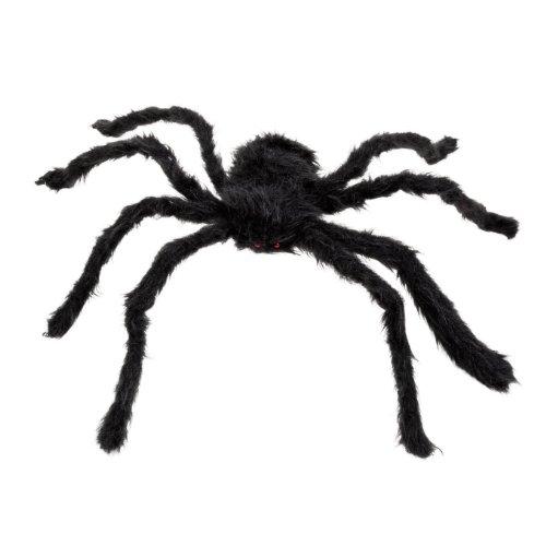 SODIAL(R) Nouveau 30cm Araignee noire Peluche Marionnette Jouet / Decor Halloween