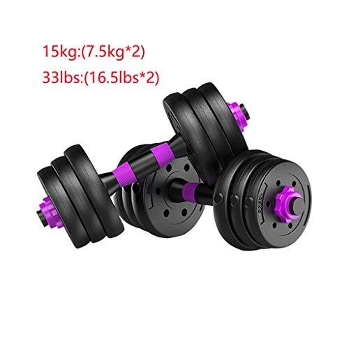 FABAX Hanteln kurzhantel Heimfitnessgeräte Hantel Abnehmbare Langhantelset Universelles EIN Paar Armmuskeln Brustmuskeln trainieren Dumbbells hantel Fitness zum Abnehmen (Größe : 15kg(7.5kg*2))