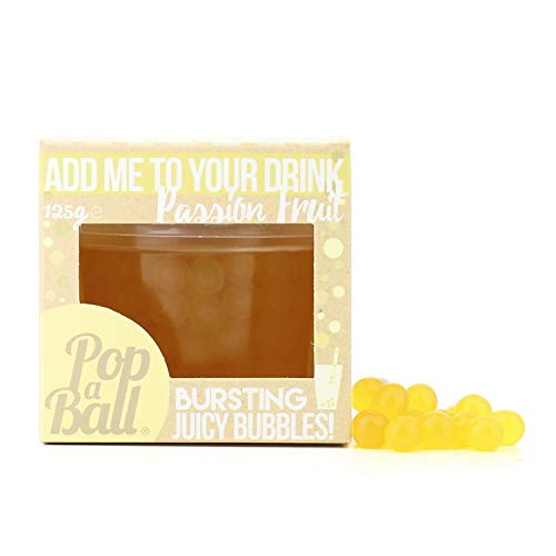 Popaball Bursting Juicy Bubbles with Extendable Straw Passion Fruit Flavour