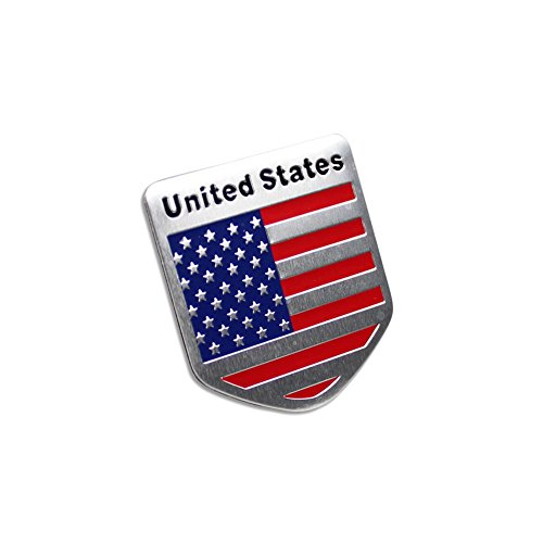 Generic Car Racing Sports US USA American Flag Shield Emblem Badge Decal Sticker