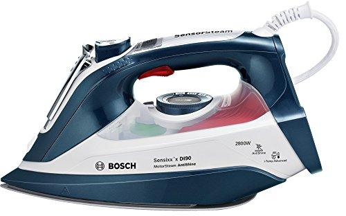 Bosch Sensixx'x DI90 Plancha de vapor, 2800 W, 0.4 litros, 0.4, Cerámica, Azul/Blanco