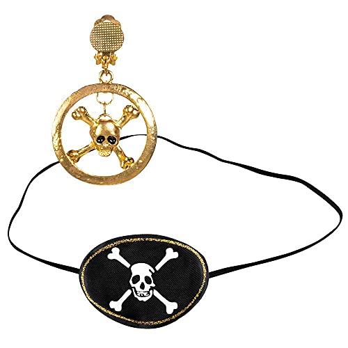 Boland 74291 Kostümset Pirat, Augenklappe und Ohrring, One Size