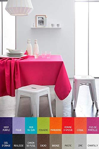 dkdo Nappe Rectangle - 140 x 200 cm - Today - Différents Coloris - Mandarine