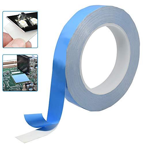 Kbnian Thermisches Klebeband doppelseitig kühlendes Band zur Befestigung von Kühlkörpern, Chipsatz, Grafikkarten, Prozessoren, Video-RAM,DDR Speichermodulen, SSD Laufwerken 25m x 20mmx 0,2mm