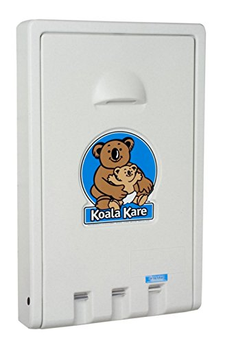 Koala Kare KB101-05 Vertical Wall Mounted Baby Changing Station, White Granite