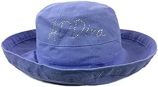 Scala Rhinestone 2.5 Inch Brim Hat - Periwinkle