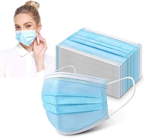 Pianeta 100 Stück Masken Mundschutzmasken 3-lagig Mundschutz Gesichtsmaske Einwegmaske