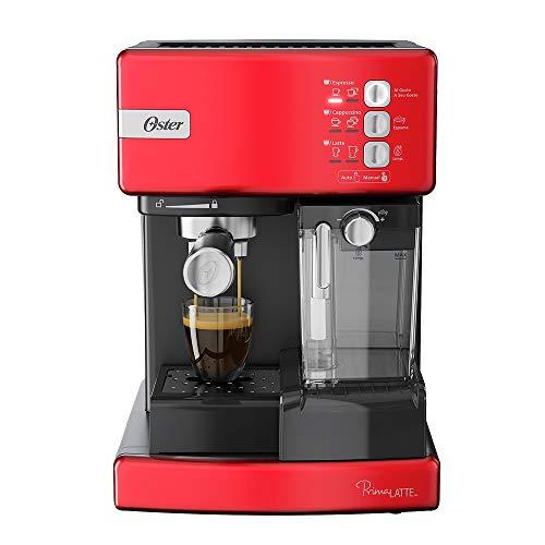 Cafetera automática de espresso roja Oster® PrimaLatte BVSTEM6603R
