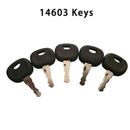 BAAQII 5 Stück 14603 Zündschlüssel Baumaschinenschlüssel für Minibagger Stapler Radlader