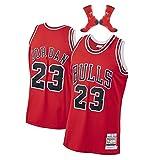 Camiseta de Baloncesto Michael Jordan Chicago Bulls 23# Men, Camiseta de Baloncesto Bordada sin Mangas Retro Unisex, Chaleco Deportivo para Gimnasio, Secado rápido-Red-L(177~182cm)