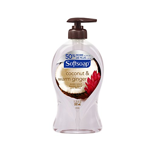 Softsoap Liquid Hand Soap Pump, Coconut and Warm Ginger, 11.25 Ounce