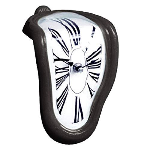 non-brand Reloj Derretido Diseño Creativo (Marco de Color Blanco/Negro/Oro/Plata Negro
