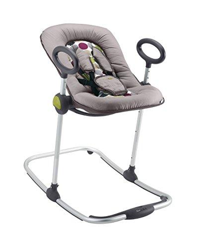 BÉABA Hamaca Bébé Up & Down I, Ajustable con una Simple Presión, 4 Alturas, 3 Inclinaciones, para Bebés y Niños, Reductor de Bebé, Ultracómoda, Balancín, Negro
