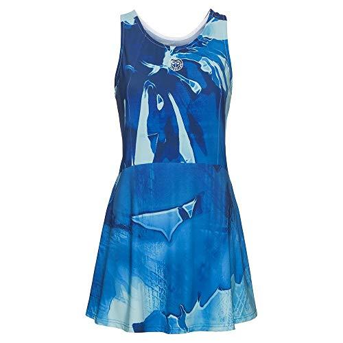 BIDI BADU Dress (3 in 1), Youma Tech-Vestitino 3 in 1 Donna, Turchese, Blu Scuro, L