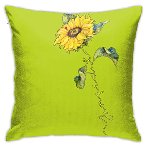Preferred Store Sunflower Twenty One Pilots Plush Fabric Square Pillowcase Cushion Cover Sofa Pillowcase 18inch*18inch