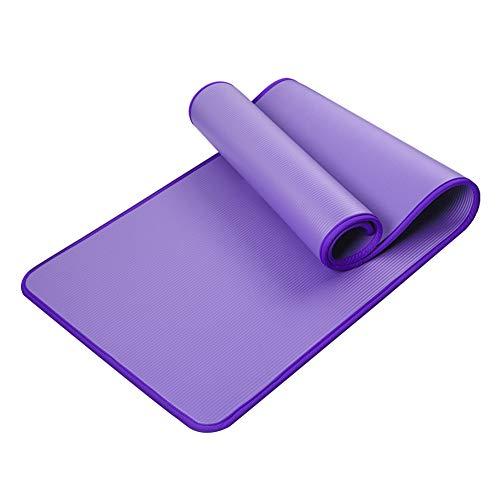 Yoga Mat Workoutmats Yoga Colchoneta de Ejercicio Conjunto Cubierto de Deslizamiento Espesa el Sudor no de Yoga Pilates Training púrpura
