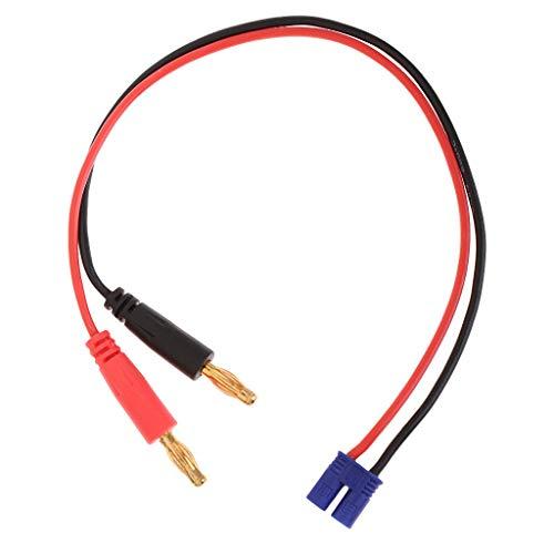 zmigrapddn Connettore per Cavo di Ricarica Batteria da EC2 a Spina a Banana da 4 mm per Caricabatterie Hubsan H501S Max B6, Accessori di Ricambio RC