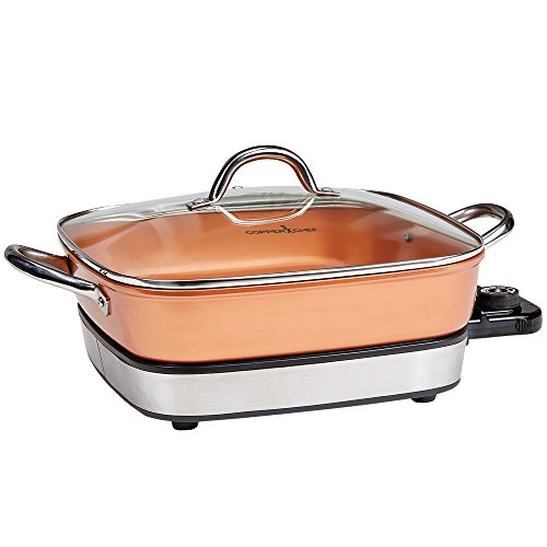 Buy Discount Copper Chef 12 Removable Electric Use as a Skillet, Buffet Server and in The Oven