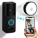 Video Doorbell, Yiroka Doorbell Camera Black, IP55 Waterproof 720P HD Camera Security