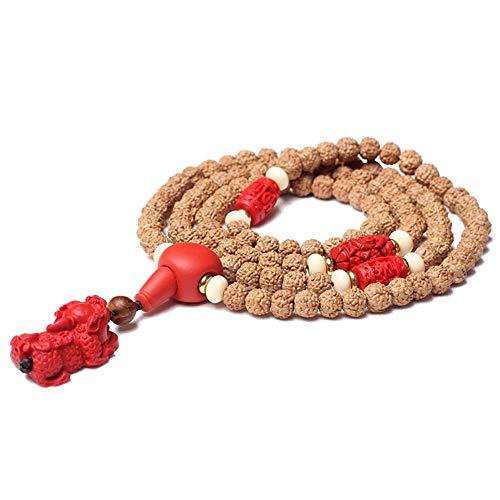 Armband Little King Kong Bodhi Samen 108 Drachenmuster Doppel Drachenmuster Wabe Original Samen Kurkuma Haut Perle Halskette